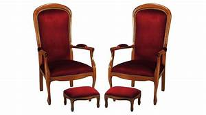 Fauteuil Style Voltaire : fauteuils voltaire en tissu velours bordeaux fauteuil de salon pas cher ~ Teatrodelosmanantiales.com Idées de Décoration