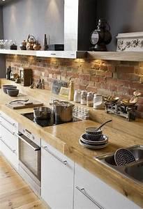 Table Cuisine Scandinave : la cuisine en bois massif en beaucoup de photos ~ Melissatoandfro.com Idées de Décoration