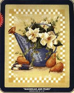 8 6 Sales Tax Chart Dmc Needlepoint Canvas Pattern Quot Magnolias And Pears Quot Pearl