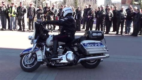 Police Demonstration Of Low Speed Motorcycle Maneuvers