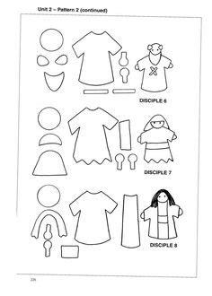 finger puppet templates  editable printable book