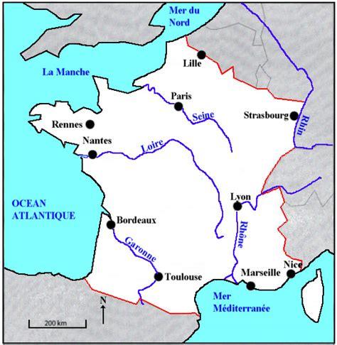 Carte Des Fleuves De Et Villes by Infos Sur 187 Carte De La Avec Ses Villes Principales
