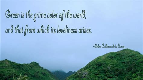 Green Is The Prime Color Of The World And That From Which ...