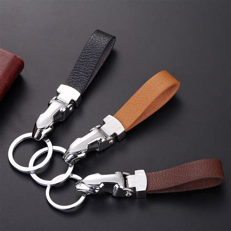 leather strap key chain holder  detachable keyring popkeychain