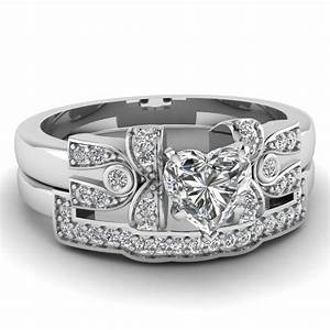 latest designs of heart shaped wedding sets fascinating With heart diamond wedding ring set