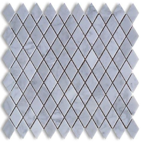 daltile bath accessories 1x1 white carrara marble polished mesh