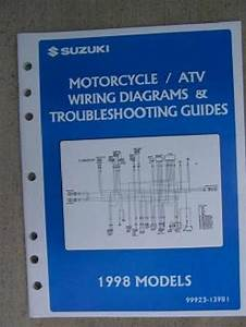 1998 Suzuki Motorcycle Atv Wiring Diagram Manual W Model