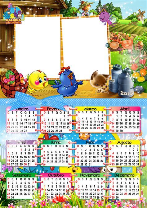 Calendario 2013 da galinha pintadinha Imagens para photoshop