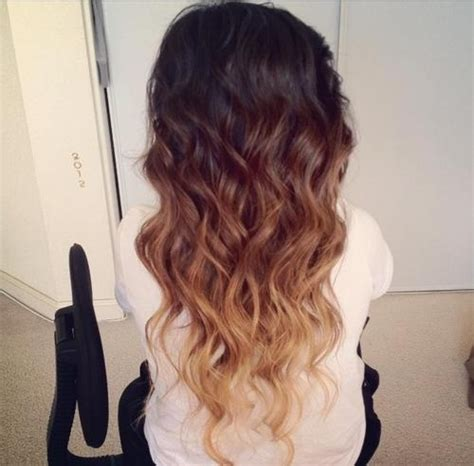 dark brown hair with light brown tips brown to blonde ombre hair colors ideas