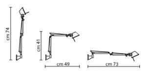 lade a parete led artemide wandleuchte tolomeo design fassina und de lucci