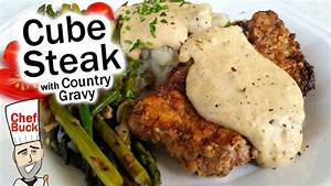 best cube steak recipe with country gravy