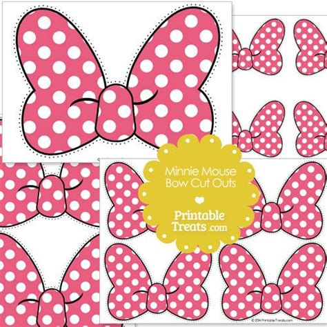 pink minnie mouse bow cut outs  printabletreatscom