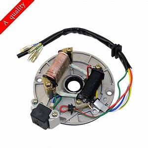 Magneto Stator Ignition Plate 2 Pole Coil 5 Wire For 50cc