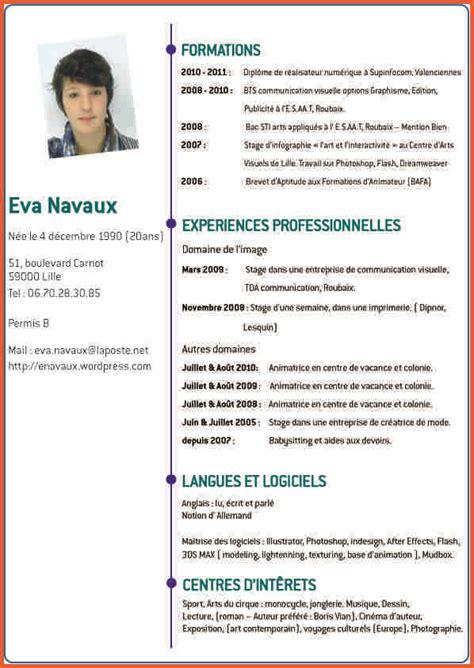 Type De Cv Gratuit by Maquette Cv Cv Type Gratuit Codesducambresis