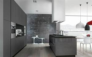 idee deco cuisine grise pour une ambiance harmonieuse With idee conception cuisine