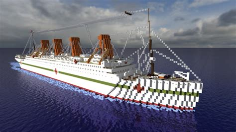 britannic sinking in real time hmhs britannic sinking version 1 1scale minecraft project