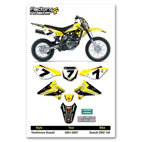 graphics for motocross bikes 2001 2007 suzuki drz 125 dirt bike graphics kit motocross