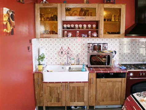 cuisine en teck meubles de cuisine en chêne rustique et teck le du bois