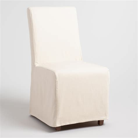 linen long anna chair slipcover world market