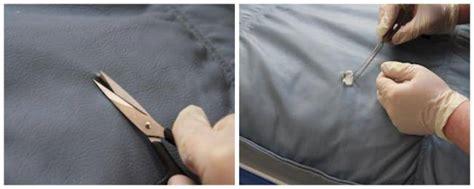 trou canapé cuir comment réparer une déchirure ou un trou dans le cuir