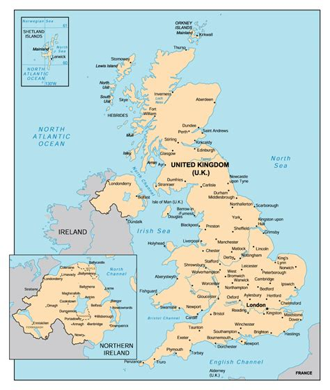 Carte Angleterre Grandes Villes by Map Of United Kingdom With Cities Vidiani