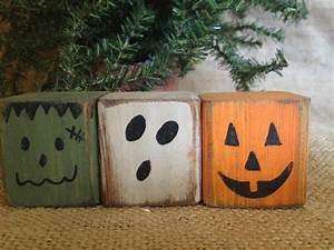 Primitive Halloween Monster Pumpkin Ghost Convo Shelf