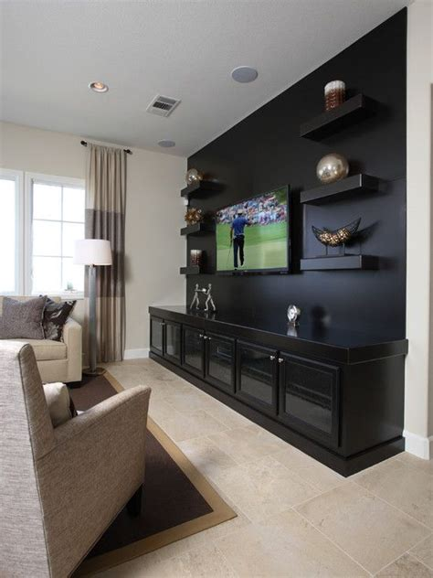 tv accent wall traditional media room design pictures remodel decor and ideas page 9 house pinterest