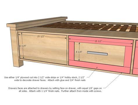 bench design wooden trundle bed frame plans