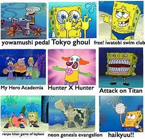 Anime Comparison Chart SpongeBob Comparison Charts