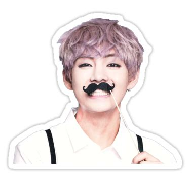 scoop neck t shirt quot v taehyung bts quot stickers by elisa88 redbubble