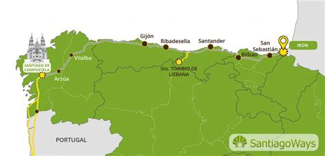 camino santiago map the camino norte routes stages maps official