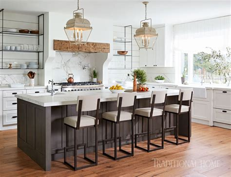White Farmhousestyle Kitchen  Traditional Home