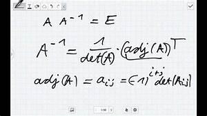 Eigenwert Matrix Berechnen : die inverse mit der adjunkten matrix bestimmen lineare ~ Themetempest.com Abrechnung