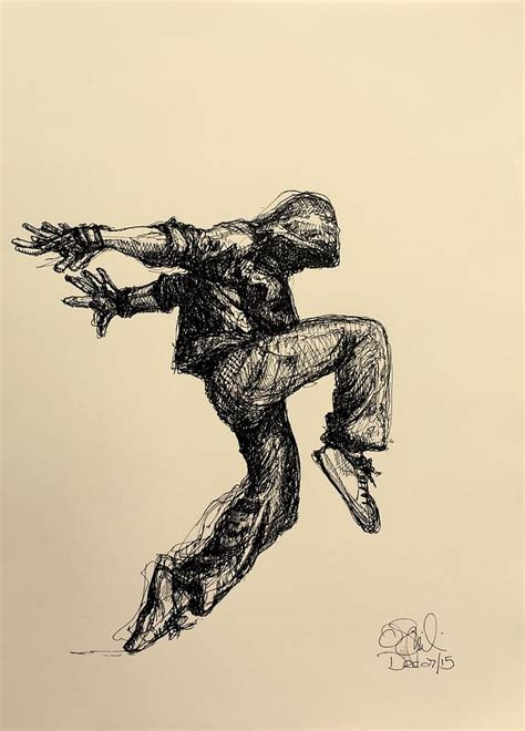 hiphop drawing by olga szkabarnicki