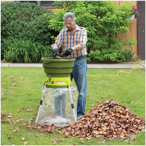 best garden mulcher sun joe electric leaf mulcher shredder 618350 saws chainsaws log splitters at sportsman