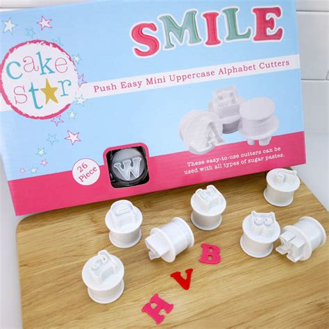 cake decorating alphabet cutters push easy mini alphabet cutters by cake