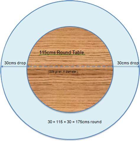 6 foot round table top great how to find the correct size tablecloth for your