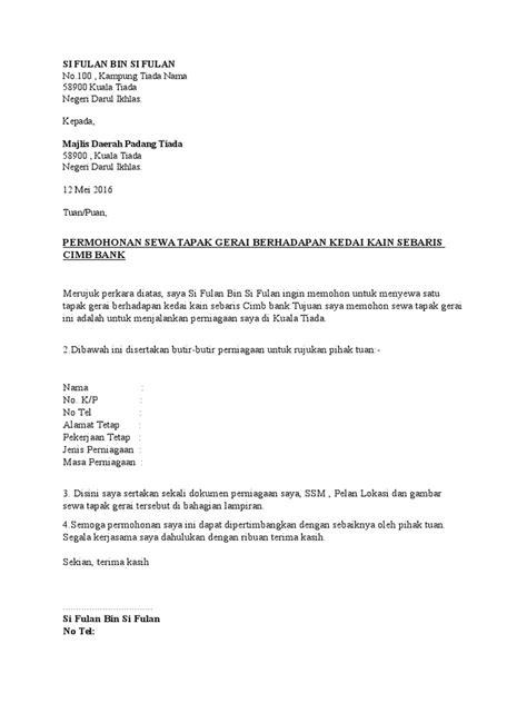 contoh surat rasmi permohonan keluar asrama rasmi