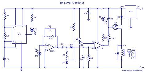 Infrared Sensor Circuit Detector Diagram