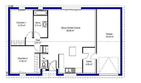 plan maison plain pied 4 chambres garage excellent best exposition plan maison chambres lina