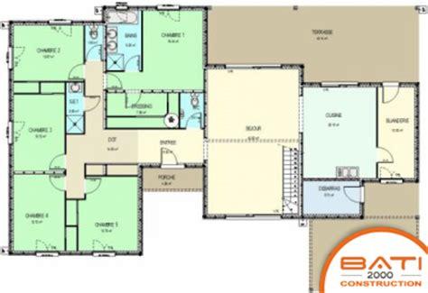 plan maison 5 chambres plain pied plan de maison 5 chambres plain pied