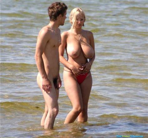 Your Voyeur Videos Perfect Beach Huge Tits