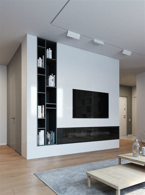 Fernsehwand Ideen by Contemporary And Creative Tv Wall Design Ideas