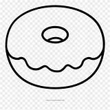 Donut Coloring Pages Doughnut Clipart Ultra Pinclipart Kawaii sketch template