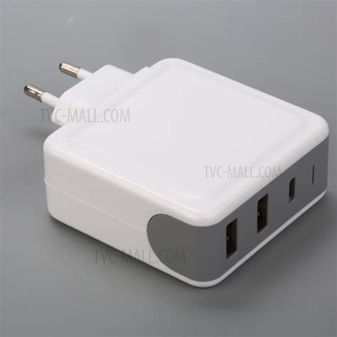 pd2u 65w dual usb port type c wall travel charger pd