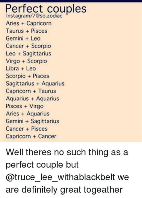 Perfect Couples Instagram@so Zodiac Aries Capricorn Taurus ...