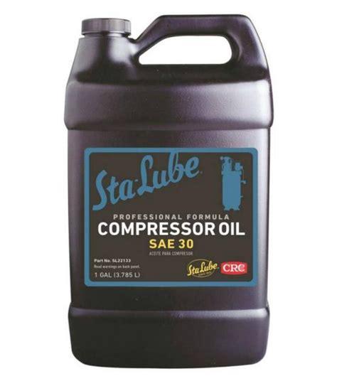 crc sl sta lube air compressor oil  gallon lifeandhomecom