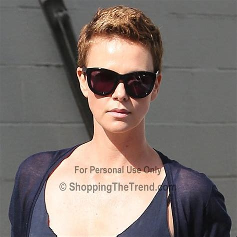 Charlize Theron short hair for Mad Max   in LA on Feb 1