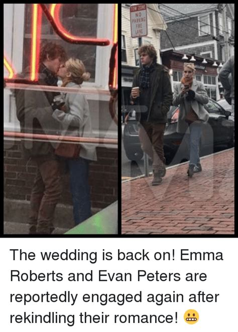 NO the Wedding Is Back On! Emma Roberts and Evan Peters ...