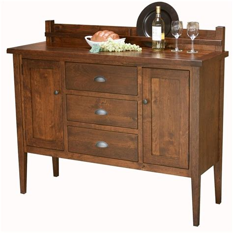 Sideboards And Servers by Amish Rustic Shaker Plank Buffet Server Sideboard Solid